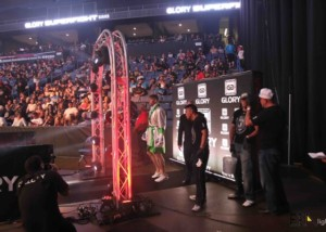 effect Magic dots for fighter entrance in glory kickboxing era lighting