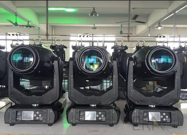 testing of 280w beam spot wash 3in1 moving heads