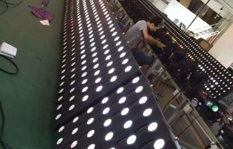 producing 36x3w cree led gold matrix panel lighting in era factory