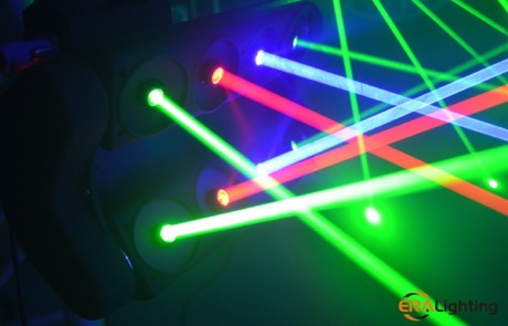 Rgb Color Effect Of Laser Moving Head Lighting